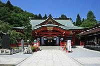 Miyagi Prefecture Gokoku Shrine Hall of Worship 2010-06-03.JPG
