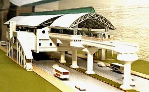E. Sreedharan - Model of Kochi Metro rail station