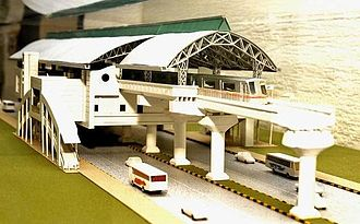 E. Sreedharan - Model of Kochi Metro rail station
