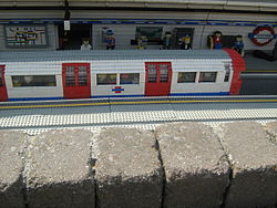 Model of a London Underground carriage in Miniland, Legoland Windsor.JPG
