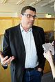 Mogens Jensen (S) intervjuas vid Nordiska radets mote i Stavanger 2008-04-14.jpg