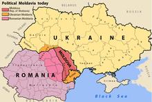 The Principality Of Moldavia Red Pink Orange The Moldavia Nowadays Moldova Red Romania Pink And Ukraine Orange
