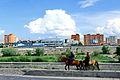 Mongołowie w drodze na stadion podczas święta Naadam w Ułan Bator 02.JPG