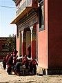 Monks in bir tibetan colony.jpg