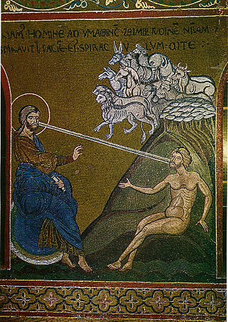 Byzantine calendar - Byzantine mosaic of the Creation of Adam, (Monreale Cathedral).