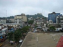En gade i Monrovia.