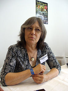 Margaret Astrid Lindholm Ogden at the 63rd World Science Fiction Convention in Glasgow, Scotland, United Kingdom, August 2005