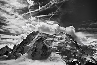 mountain in the Mont Blanc massif of the Alps