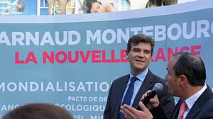 French Socialist Party presidential primary, 2017 - Arnaud Montebourg during his 2011 campaign for the Socialist nomination