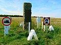 Monument to four highwaymen, Imber Range, near Tilshead - geograph.org.uk - 522677.jpg