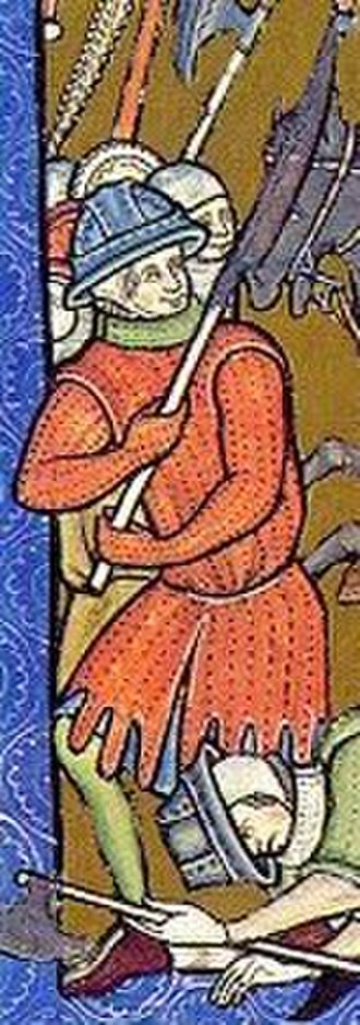 Gambeson - Depiction of a 13th-century Gambeson (Morgan Bible, fol. 10r)