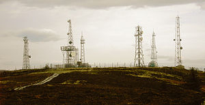 Mormond Hill - Aerial masts on Mormond Hill