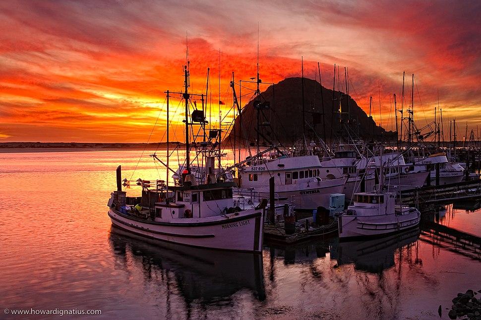 Morro Bay Sunset - Harbor View
