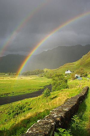 Rainbow in Morvich, Scotland