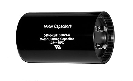 Capacitors wikivisually for Electric motor starting capacitor