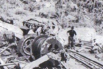 Dust explosion - Mount Mulligan mine disaster in Australia 1921. These cable drums were blown 50 feet (15 m) from their foundations following a coal dust explosion.
