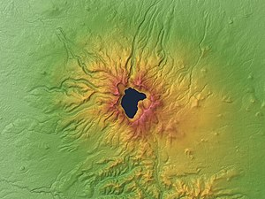 Paektu Mountain - Relief map