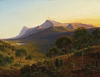 Tom Wills - Wills grew up amongst Aboriginal clans in the Mount William area of the Grampians, shown in this 19th-century painting by Eugene von Guérard.