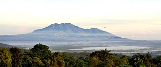 Semarang Regency - A view of Mount Ungaran, Lake Rawapening and the towns of Bandungan and Ambarawa