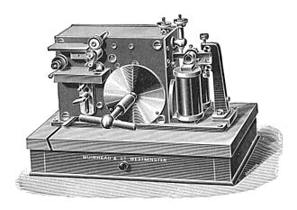 Wireless telegraphy - Muirhead Morse inker. Apparatus similar to that used by Marconi in 1897