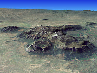 Mulanje Massif - Composite satellite image of Mt. Mulanje