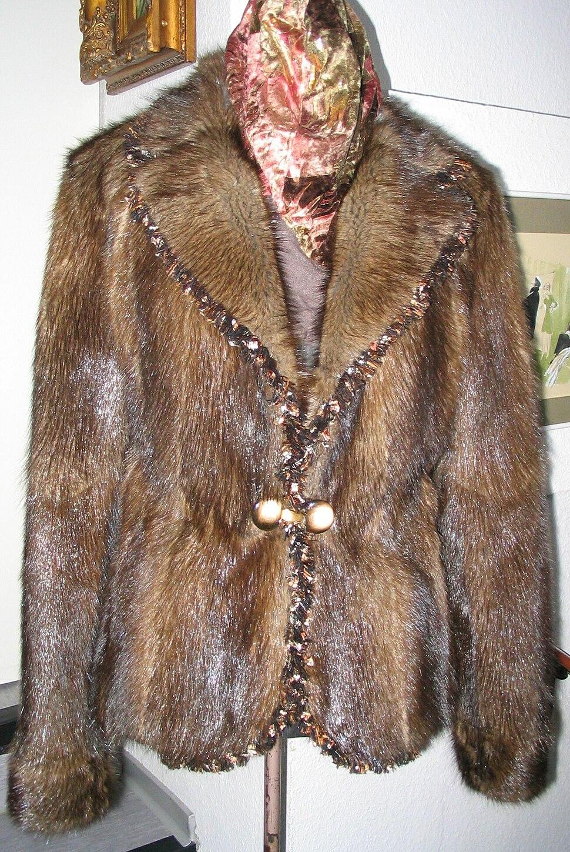 Muskrat (musquash) fur backs, jacket