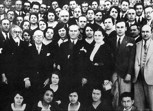 Mustafa Kemal Ataturk at the establishment of ...