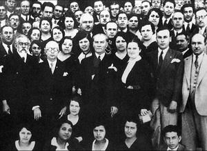 Mustafa Kemal Ataturk at the establishment of ...