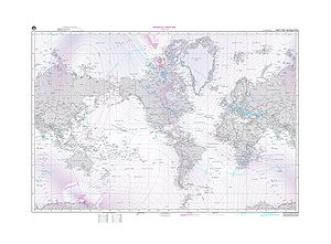 Magnetic declination -  NIMA Magnetic Variation Map 2000