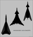 Myasishchev M-20 concept top-view silhouettes.png