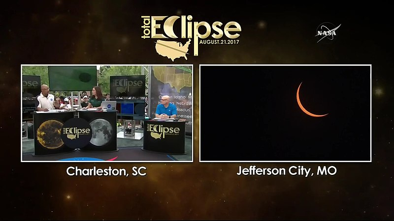 NASA TV coverage of 21 August 2017 eclipse.jpg