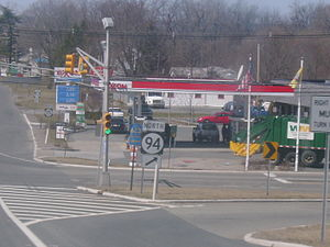 New Jersey Route 94 - Route 94 north turns off on Route 15 in Lafayette Township