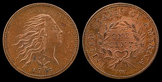 Wreath cent - 1793 Flowing Hair Cent (wreath)
