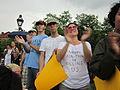 NOLA BP Oil Flood Protest applause.JPG