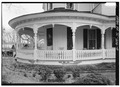 NORTHWEST (FRONT) PORCH, NORTH END - John Calvin Owings House, 787 West Main Street, Laurens, Laurens County, SC HABS SC,30-LAUR,2-9.tif