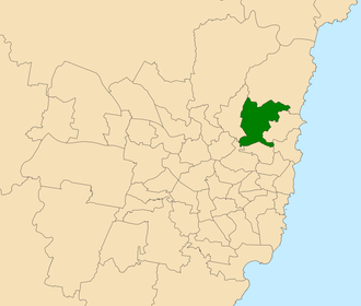 Electoral district of Davidson - Location within Sydney