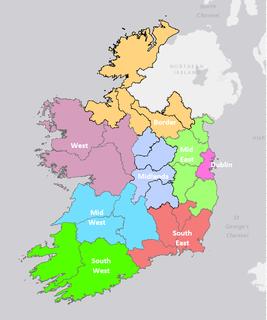 NUTS statistical regions of Ireland