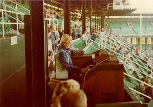 Nancy Faust - Nancy Faust at Comiskey Park on May 21, 1980