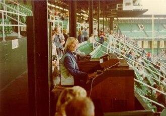 Comiskey Park - Longtime White Sox organist Nancy Faust