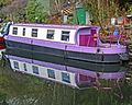 Narrowboat in the Rochdale Canal, Hebden Bridge (12038134854).jpg