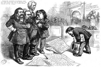 Pardon - Thomas Nast asks pardon for his sketches.