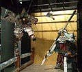 National Museum of Ethnology, Osaka - Benkei and Ushiwaka figures made of dishes - Izumo, Shimane - Collected in 2012.jpg