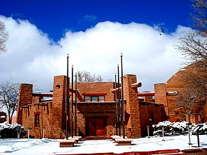 English: Navajo Nation Council Chambers, Windo...