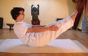 Yoga postures Navasana