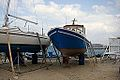 Naxos Town, Repair of small boats, 11H2331.jpg
