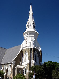 Neo-Gothic Dutch Reformed Mother Church, built in 1892