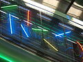 Neon light art at University of Helsinki metro station.jpg