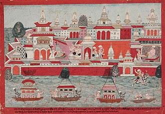 Syamantaka - Satrajit and Prasena with the Symantaka Mani