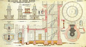Point Perpendicular Light - Plans for the lighthouse and keeper's quarters.