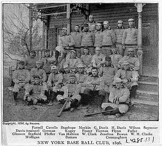1896 New York Giants season - Image: New York Giants 1896
